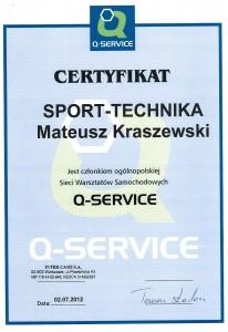 Warsztat samochodowy Sport-Technika należy do ogólnopolskiej sieci Q-SERVICE